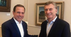 マクリ大統領(右)とドリア市長(@jdoriajr)