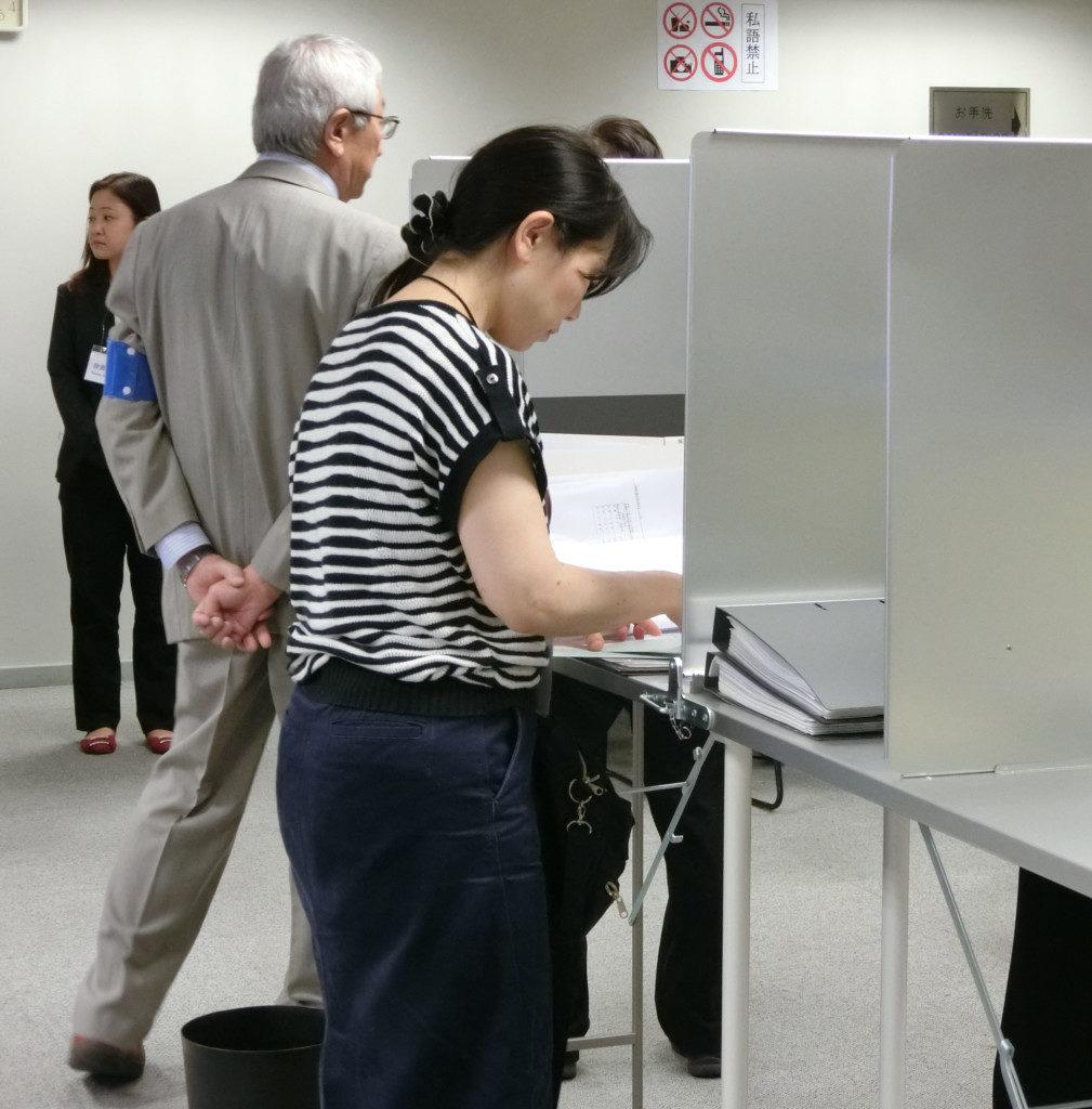 在外公館で投票開始された衆議院選挙