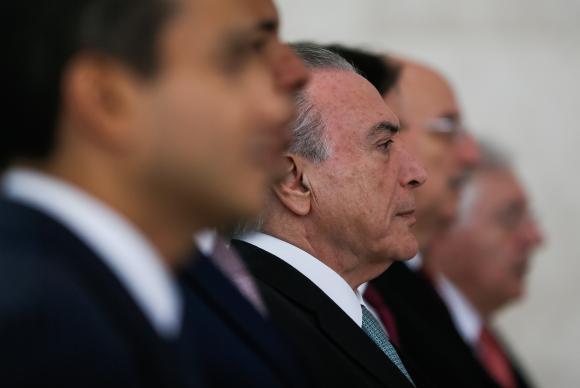 ブラジル全国中小企業の日、記念式典でのテメル大統領(Beto Barata/PR)