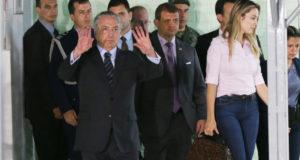 前立腺手術を受け、10月30日に退院したテメル大統領(Antonio Cruz/agencia Brasil)