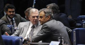 アエシオ氏とタッソ氏(Jonas Pereira/Agência Senado)