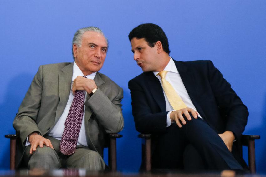 アラウージョ氏とテメル大統領(Beto Barata / PR)