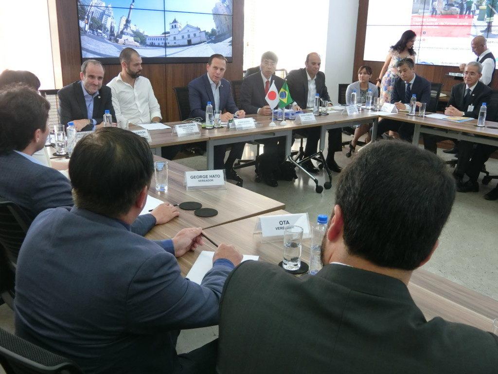 会合には山田駐伯大使も出席した