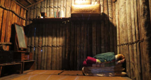 移民の原風景――多くの移民がこのサッペー小屋から生活を始めた(移民史料館)