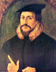 ジャン・カルヴァン<ハンス・ホルバイン画、formerly attributed to Hans Holbein [Public domain], via Wikimedia Commons>