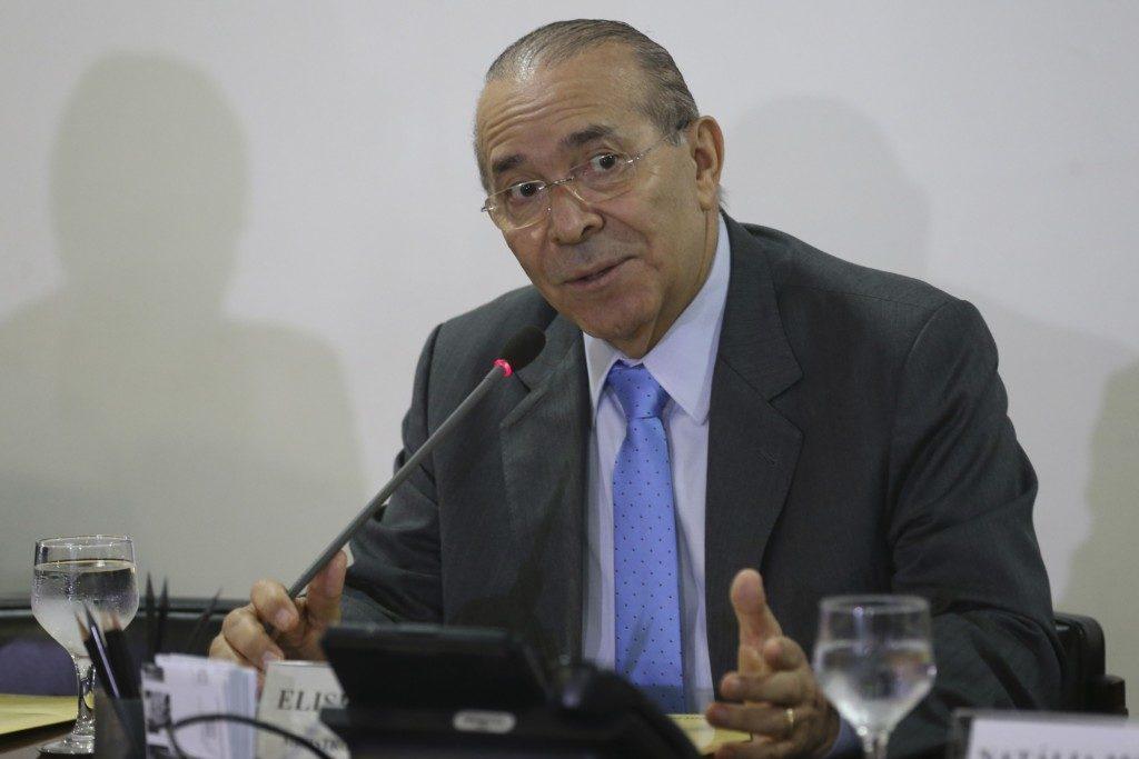 記者会見でのパジーリャ官房長官(Antonio Cruz/Agência Brasil)