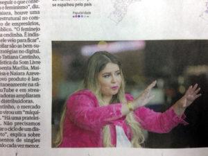 15日付フォーリャ紙で報道されたマリリア・メンドンサ