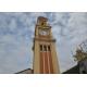 サンパウロ市ルス駅=駅舎の外装修復工事完了=塔の時計も2年ぶりに動き出す