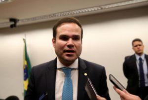 予算案報告官を務めたレオン下議員(Wilson Dias/Agência Brasil)