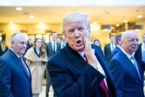 ダボス会議に出席した、米国トランプ大統領(Fórum Econômico Mundial/Boris Baldinger)