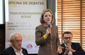 PTのグレイシ党首(Lula Marques/AGPT)