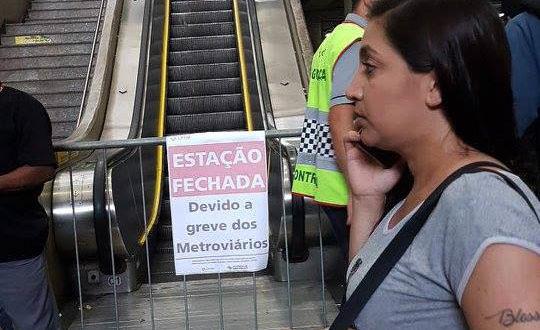 18日の朝は多くのサンパウロ市民の通勤、通学の足がストップしてしまった(Sindicato dos Metroviarios)