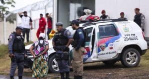 昨年1月のアマゾナス州での刑務所の大混乱の様子(Marcelo Camargo/Agência Brasil)