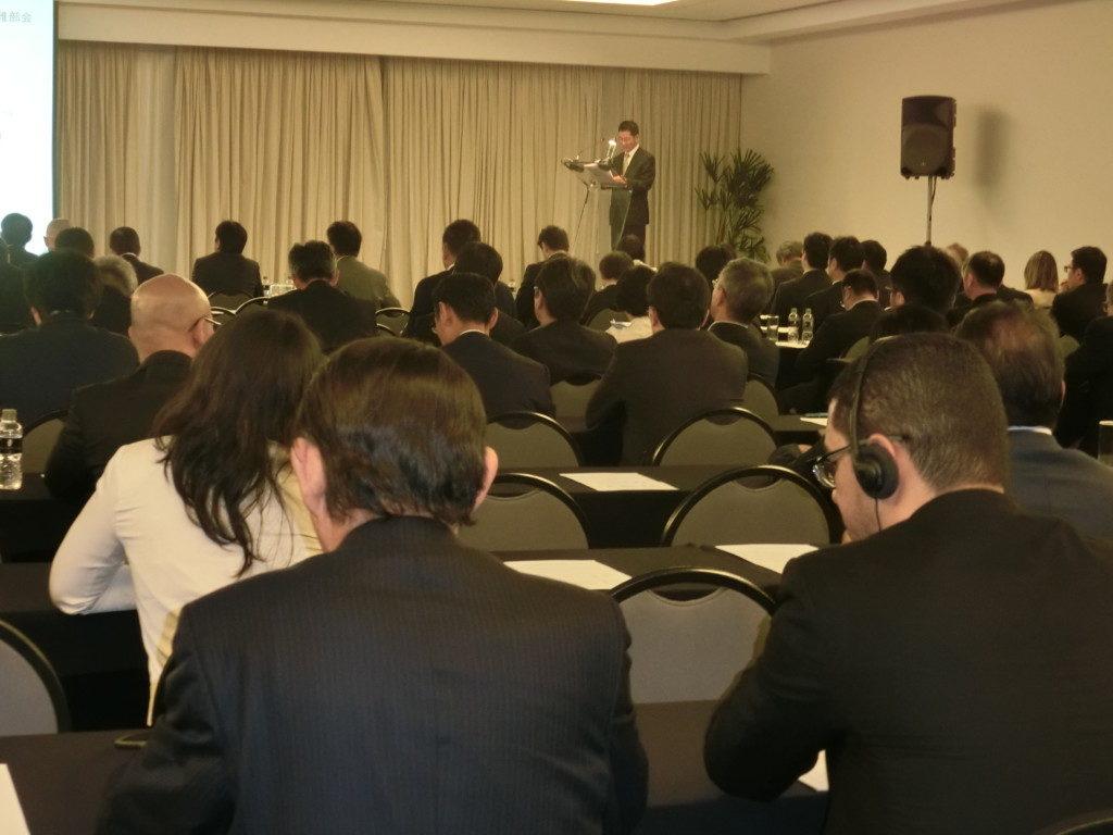 会員約200人が出席、注目の高さを伺わせた