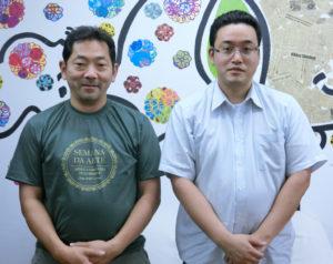 (左から)橋本代表理事、林事務局長