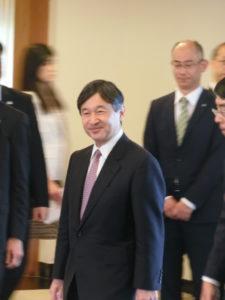 在ブラジル日本国大使館に姿を表わされた皇太子殿下