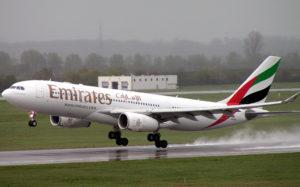 エミレーツ航空の旅客機(参考画像・fotos publicas)