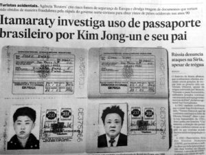 エスタード紙に掲載された金親子の偽造パスポート