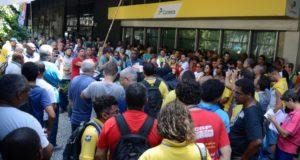 リオ市での郵便局ストの様子(Tomaz Silva/Agência Brasil)