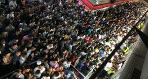 ラッシュ時のサンパウロ地下鉄はこんな状態(参考画像・Paulo Pinto/Fotos Públicas)