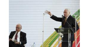 22日の記者会見で(Antonio Cruz/Agência Brasil)