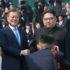 和解の握手をする韓国の文在寅大統領と北朝鮮の金正恩最高指導者(Corpo de Imprensa da Cúpula Inter-Coreana)