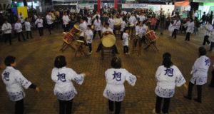 品評会で行われた盆踊りの様子