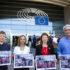 ブリュッセルのEU議会前でもゼロ寛容政策への抗議行動が行われた。(GUE/NGL)
