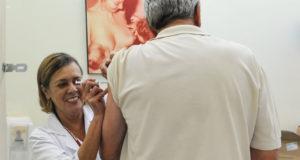 聖市の保健所での予防接種の様子(Elza Fiúza/Agência Brasil)