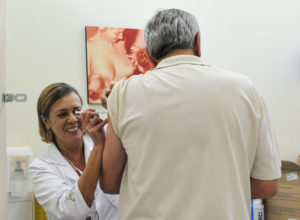 サンパウロ市の保健所での予防接種の様子(Elza Fiúza/Agência Brasil)