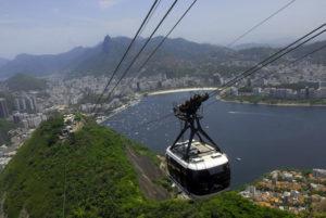 リオ市南部の絶景が見渡せるケーブルカー(Tomaz Silva/Agência Brasil)