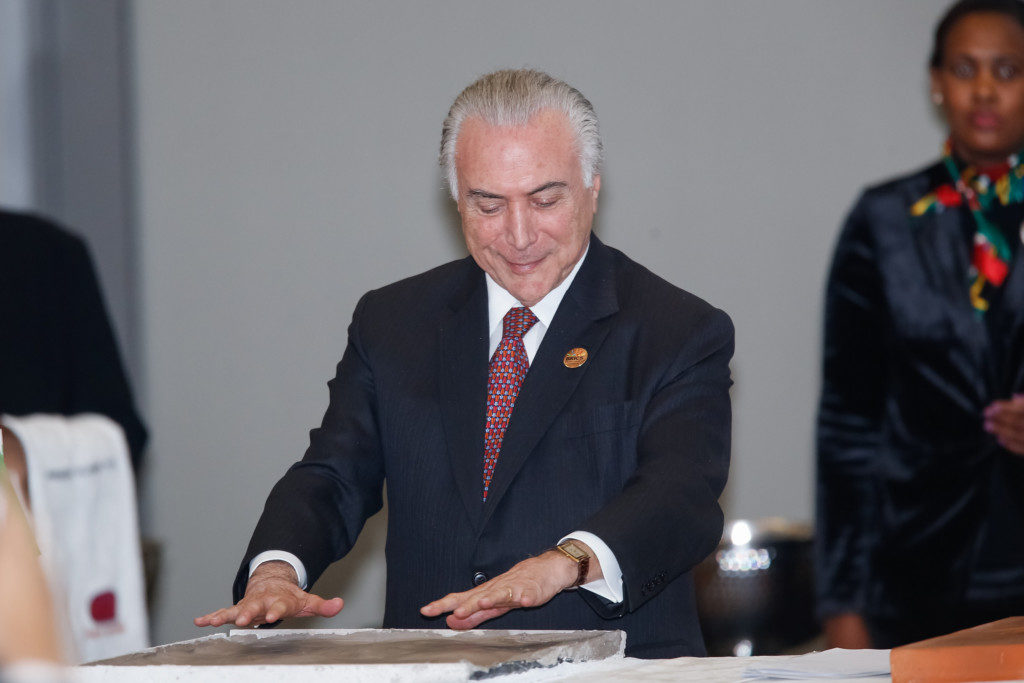 BRICS会議でのテメル大統領(Cesar Itiberê/PR)