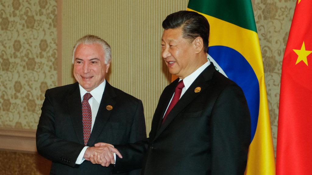 テメル大統領と習主席(Cesar Itibere/PR)