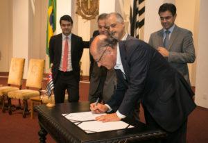 サンパウロ州知事時代のアウキミン氏(Gilberto Marques/A2img)