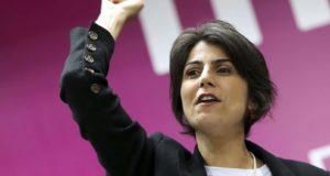 他の左派候補の服になる可能性も残されているPCdoBのマヌエラ・ダヴィラ候補(Fabio Rodrigues Pozzebom/Agencia Brasil)