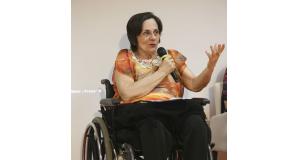 法制定のきっかけとなったマリア・ダ・ペーニャさん。何年も家庭内暴力で苦しんだ末、夫の銃弾で下半身不随となった(Fabio Rodrigues Pozzebom/Arquivo/Agência Brasil)