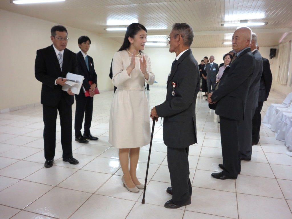 アマゾン第一回移民唯一の生き残り、山田元さんとお話される眞子さま