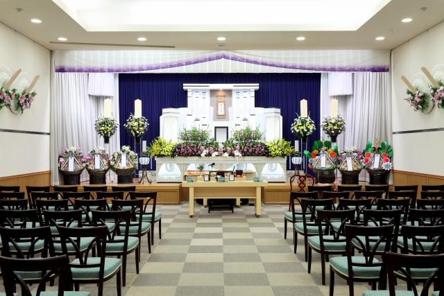 日本の葬儀会場(参考写真)