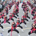 琉球國祭太鼓、レキオス芸能同好会の太鼓演奏は壮観(撮影・望月二郎)
