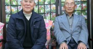 (左から)長田会長、村田相談役