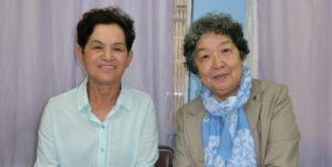 (左から)角南会長、岡婦人会長