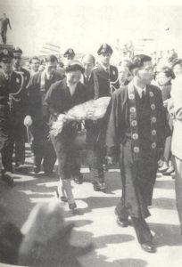 サンパウロに到着した第23世門主(54年、『南米教団六〇年史』より)