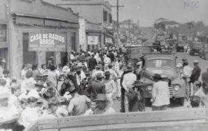 コーヒー景気で活況を呈したアサイの街(1956年)