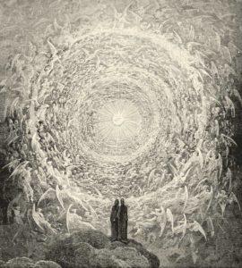 ダンテの『神曲』。地獄の最下層から旅をし、煉獄、天国へと昇ってゆく物語をドレが描いた挿画(Gustave Dore[Public domain], via Wikimedia Commons)