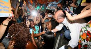 8月31日、リオでキャンペーン中のアウキミン氏(@geraldoalckmin)