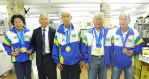 世界大会でメダルを獲得した皆さん