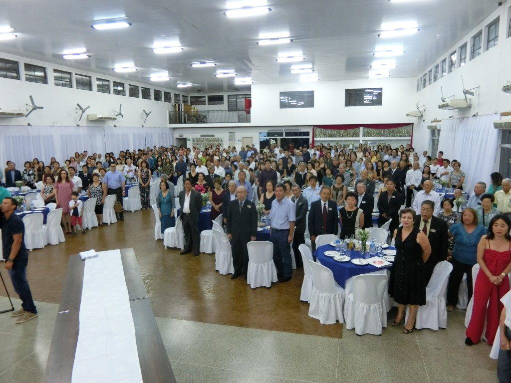 式典には380人が参加した