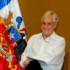 7月にメキシコで会談した際のブラジルのテメル大統領(左)と、チリのピニェラ大統領(右)(Cesar Itibere/PR)