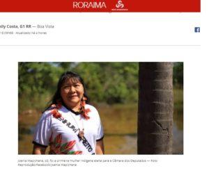 ジョエニア氏当選を伝えるG1サイトの記事の一部