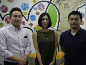 案内のため来社した中山さん、鈴木さん、大山さん